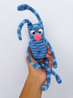 Crochet Animal Patterns, Crochet Animals, Crochet Gifts, Crochet Toys, Bunny Crochet, Funny Toys, Craft Accessories, Baby Crafts, Cute Dolls