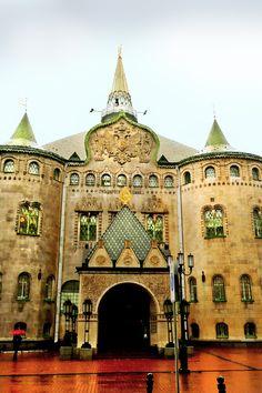 Bank. Nizhniy Novgorod. Государственный нижегородский банк. Neorussian style in architecture.