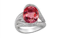 Chopard Red Carpet Collection 2013 padparadscha pink sapphire and diamond ring
