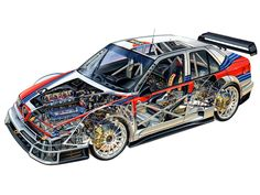 1996 Alfa Romeo 155 V6 TI ITC (SE065) - Illustration uncredited