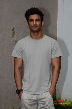 Sushant Singh Rajput snapped at M.S Dhoni promotions
