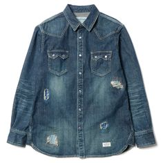 86f23867c9d Neighborhood x Haven mens denim shirt from capsule collection