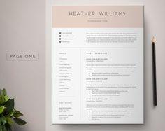 Resume Template Word, CV Template Resume, Curriculum Vitae, Cover Letter Template, Minimalist Resume, Instant Download Resume, Modern Resume #resume #cv #modernresume