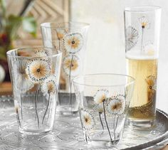Roost Dandelion Flower Glassware, Set/6 *Next Day Shipping* – Modish Store