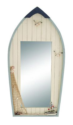 Decorated Boat Wall Mirror