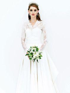 キャサリン妃風ドレス。清楚でいいな!