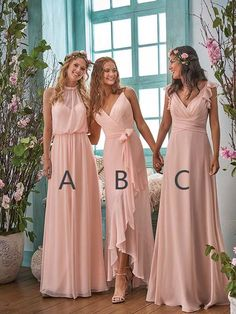 spring 2018 mix and match bridesmaids neutral bridesmaid dresses simple bridesmaid dresses boho bridesmaids bridal party available for plus size bridesmaids source by rikrakrotolo dresses. Neutral Bridesmaid Dresses, Wedding Bridesmaids, Bridesmaid Gowns, Plus Size Bridesmaids Dresses, Boho Wedding, Wedding Gowns, Trendy Wedding, Wedding Flowers, Blush Flowers
