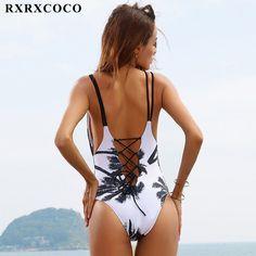 One Piece Swimsuit 2017 Sexy Swimwear Women Bathing Suit Swim Vintage Beach Wear Print Bandage Push up Monokini Swim Suit Bikinis, Monokini Swimsuits, Bikini Swimwear, Bikini Beach, Bikini Babes, Sexy Bikini, Vintage Swimsuits, Vintage Bikini, One Piece Swimwear