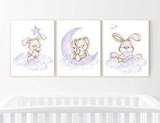 Discover recipes, home ideas, style inspiration and other ideas to try. Purple Nursery Decor, Mint Nursery, Bunny Nursery, Nursery Decor Boy, Baby Room Decor, Nursery Prints, Nursery Wall Art, Nursery Ideas, Nursery Bedding