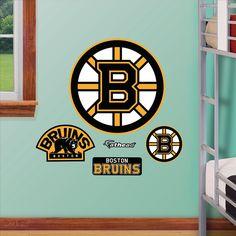 Boston Bruins Logo Fathead Junior Decal | Set