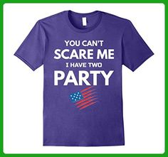 Mens Fourth Of July Gift Can't Scare Me I Have Two Party Shirt Large Purple - Holiday and seasonal shirts (*Amazon Partner-Link)