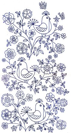 Embroidery Patterns For Kameez for Free Machine Embroidery Patterns For Beginners once Handmade Embroidery Designs For Sarees Bird Embroidery, Embroidery Transfers, Hand Embroidery Patterns, Vintage Embroidery, Cross Stitch Embroidery, Machine Embroidery, Embroidery Designs, Embroidery Tattoo, Vintage Birds