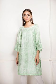 fdcba246c73 Aqua colored pretty Pakistani dress by Sapphire springcollection  spring   readytowear  pretwear