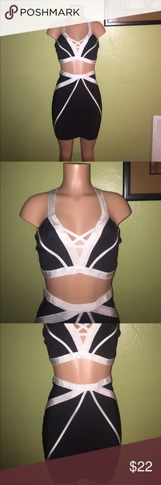 Wow Couture 1 Piece Set Wow Couture two piece bondage set. Material is very super thick and stretchy (90% polyester/10%spandex). The set is an EXTRA LARGE on tag, but can fit a LARGE as well. Surprisingly, the set was honesty ONLY WORN ONCE and has been sitting in storage not being thought about. If your familiar with Wow Couture you know the price is a steal!Get it today! She's super cute! WOW couture Other