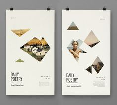 Daily Poetry by Clara Fernández, via Behance