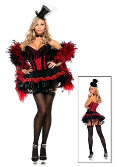 Plus Speak Easy Saloon Girl Costume