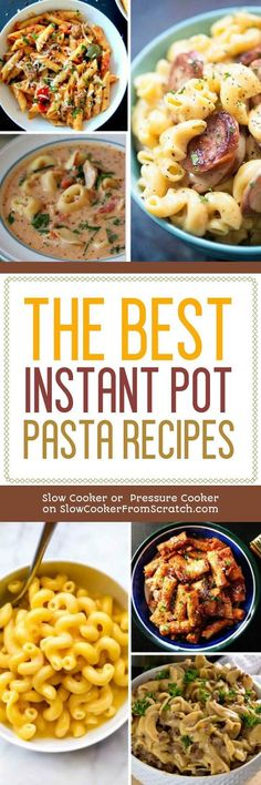 Quick dinners are always a plus, and you can make pasta in the Instant Pot in literally minutes. To help with dinner at this busy time of year, we've collected The BEST Instant Pot Pasta Recipes from great blogs around the web; enjoy! [featured on Slow Cooker or Pressure Cooker at SlowCookerFromScratch.com] #InstantPotRecipe #InstantPotPasta #PastaDinner #InstantPotPastaDinner #InstantPotPastaRecipe