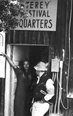 Michelle Phillips at the Monterey Pop Festival headquarters