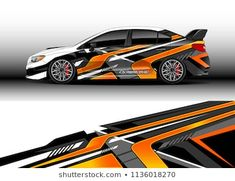 Car decal graphic vector, truck and cargo van wrap vinyl sticker. Graphic abstract stripe designs for branding and drift livery car Car Stickers, Car Decals, Kiran Rao, Rc Car Bodies, New Luxury Cars, Van Wrap, Honda Civic Type R, Cargo Van, Racing Stripes