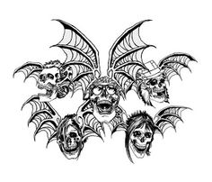 Avenged Sevenfold Winged Skull Wallpaper and Picture Skull Coloring Pages, Halloween Coloring Pages, Free Coloring, Avenged Sevenfold Tattoo, Avenged Sevenfold Wallpapers, Halloween Logo, Spooky Halloween, Halloween Ideas, Skull Wallpaper