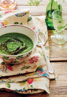 Pea, Pesto, and Arugula Soup from Sophie Dahl's Very Fond of Food