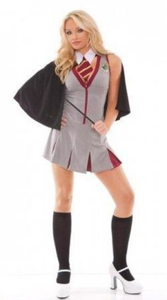 Look what I found on Gray Magical Wizard School Costume Set - Women by Elegant Moments sexy school costume Halloween Costumes For Teens, Adult Costumes, Costumes For Women, Halloween 2013, Adult Halloween, Costume Halloween, Fantasy Costumes, Halloween Night, Halloween Ideas