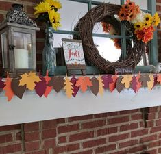 New leaf garland now available It matches my existing Fall florals banner just perfectly👌(swipe to see it ➡️) Pair the two for a beautifully decorated Fall and Thanksgiving season! Thanksgiving Decorations, Fall Decorations, Thanksgiving Wedding, Thanksgiving Crafts, Rustic Fireplace Mantels, Fall Leaf Garland, Fall Banner, Floral Banners, Rustic Fall Decor