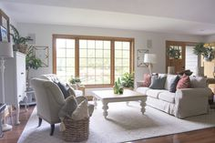How I transformed a dated living room into a vintage farmhouse decor haven. Come see the before and after for this breathtaking living room update. Living Room Update, Living Room Paint, Living Room Decor, Living Rooms, Living Spaces, Bedroom Decor, Vintage Farmhouse Decor, Country Farmhouse Decor, Farmhouse Trim