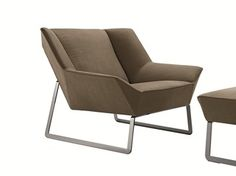 Sled Base Upholstered Leather Armchair TIGHT | Armchair   MOLTENI ...