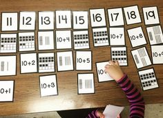 Teen Number sorting cards are a great way to understanding teen numbers in a quantitative way!
