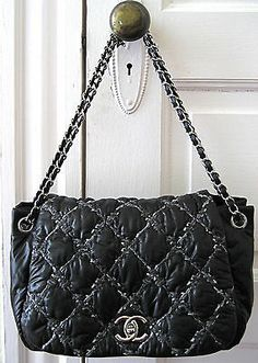 Chanel Black Quilted Lambskin Le Boy Wallet On Chain Woc Bag ... : chanel quilt - Adamdwight.com
