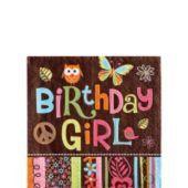 Hippie Chick Birthday Beverage Napkins 16ct- Girls Party Themes- Girls Birthday- Birthday Party Supplies - Party City