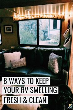 How to Keep Your RV Smelling Fresh and Clean After even a few days of RV travel, it can start to smell a little funky [. Rv Camping Tips, Travel Trailer Camping, Travel Trailer Living, Camping Ideas, Camping Spots, Travel Trailer Decor, Travel Camper, Camping Stuff, Fresco