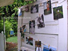 Picture Display on Vintage Door