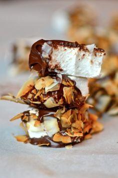 Yammies Noshery: Homemade Chocolate Covered Coconut Marshmallows