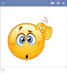 Confused Facebook emoticon
