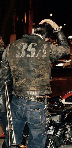 BSA Motorcycle Style, Biker Style, Motorcycle Jackets, Biker Leather, Leather Men, Leather Jackets, Types Of Jackets, Men's Jackets, Field Jackets