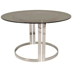 Stylish Mid-Century Modern Dining Table by Cidue, Italy, 1970s | From a unique collection of antique and modern dining room tables at https://www.1stdibs.com/furniture/tables/dining-room-tables/