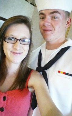 My man looks good in dress whites #sailor #PIR #graduation #love #boyfriend #USnavy