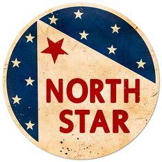 North Star Gasoline Vintage Metal Sign