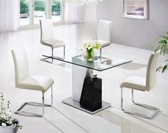 MONACO LARGE GLASS DINING TABLE