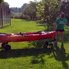 About to kayak on the Columbia River with water dog Sadie > #boardman #oregon #kayak #kayaking #sadietheboston #columbiariver #rvpark #rvlife #rving #rv