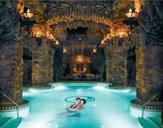 The grotto in the spa area of the grove park! The Grove Park's spa is to die for! Vacation Places, Dream Vacations, Places To Travel, Travel Pics, Spa Luxe, Luxury Spa, North Carolina Homes, Asheville North Carolina, Resorts In North Carolina