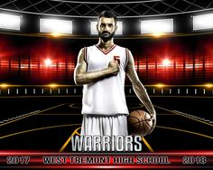 Sports Poster Photo Template For Basketball - Game Day Basketball II