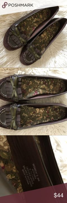 f58b3d82985120 Sperry Driving Moccasins Shoes Brown 8 Leather SPERRY
