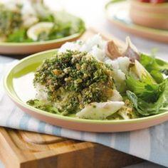 Herb-coated hoki | Healthy Food Guide