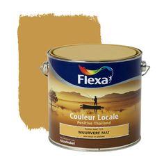 Flexa Couleur Locale muurverf Positive Thailand mat Gold 2,5 l