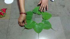 How to Make Easy Rangoli with Flowers Rangoli Designs Flower, Rangoli Designs Diwali, Diwali Rangoli, Rangoli Designs With Dots, Flower Rangoli, Beautiful Rangoli Designs, Simple Rangoli, Flower Designs, Home Flowers