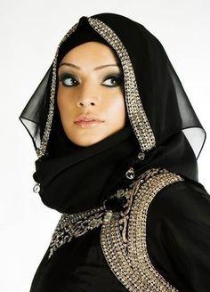 abaya strass
