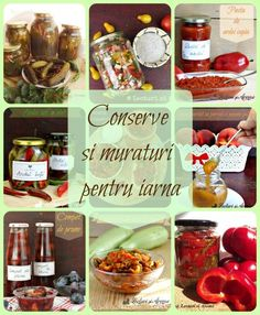 conserve si muraturi pentru iarna Conservation, Ketchup, Good Food, Food And Drink, Canning, Vegetables, Salads, Vegetable Recipes, Home Canning